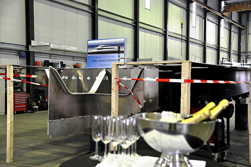 Keel laying for Project Adur