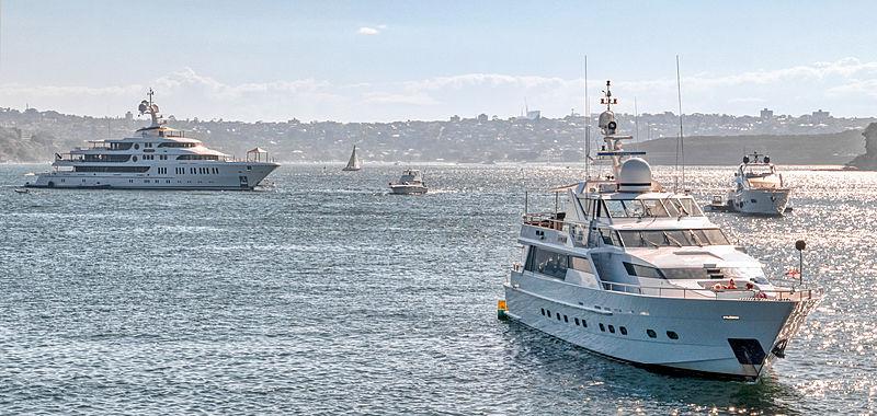 Aurora yacht in Sydney, Australia