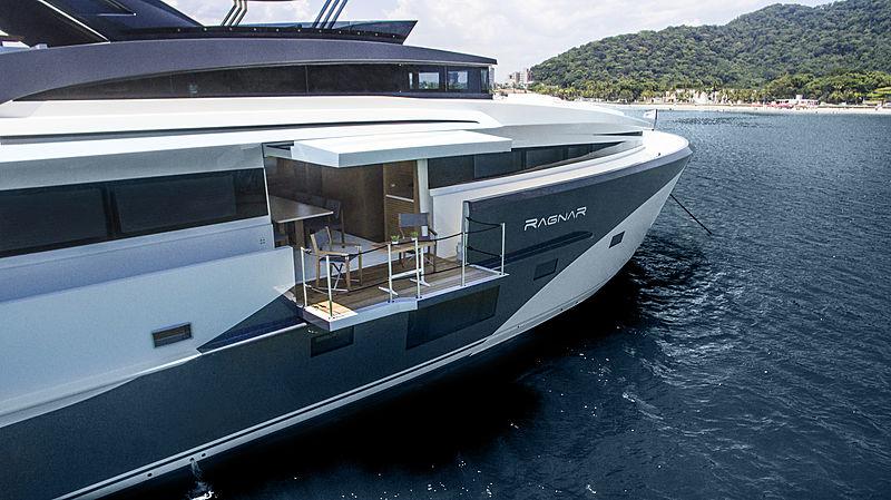 Ragnar yacht exterior details