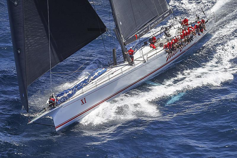 Wild Oats XI yacht at the Rolex Sydney Hobart Yacht Race
