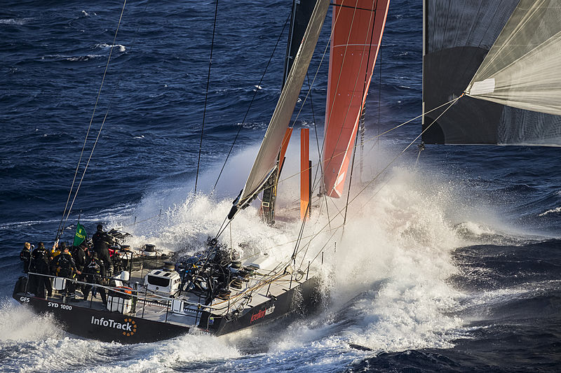 Infotrack yacht at the Rolex Sydney Hobart Yacht Race