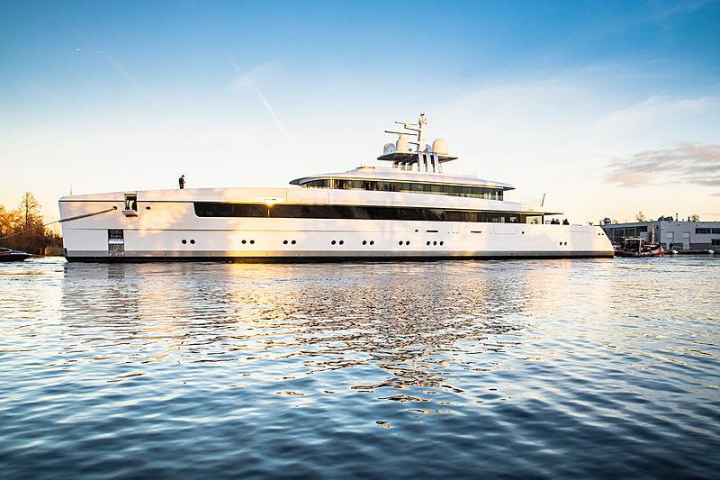 Najiba yacht launch at Feadship in Aalsmeer