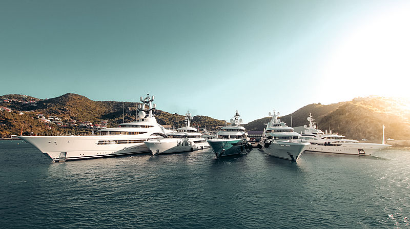Superyachts in St Barths