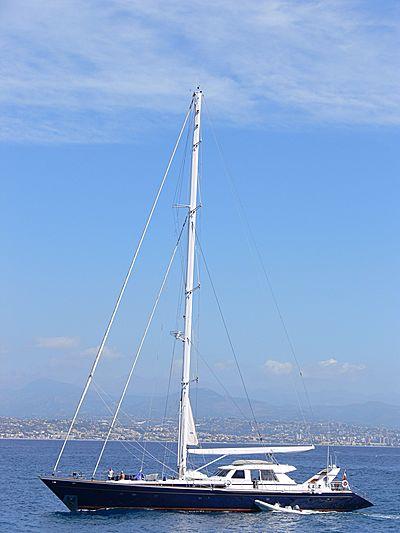 Parsifal II yacht arriving in Port Vauban