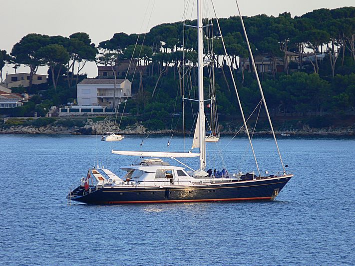 Parsifal II yacht anchored off Antibes
