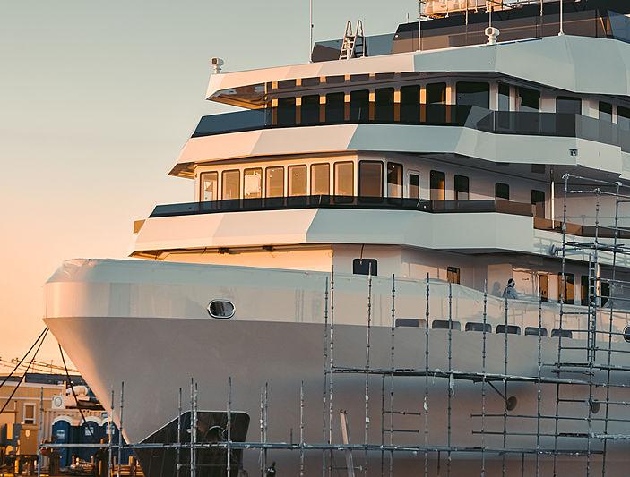 Danah Voyager explorer yacht in Dania Cut, Florida
