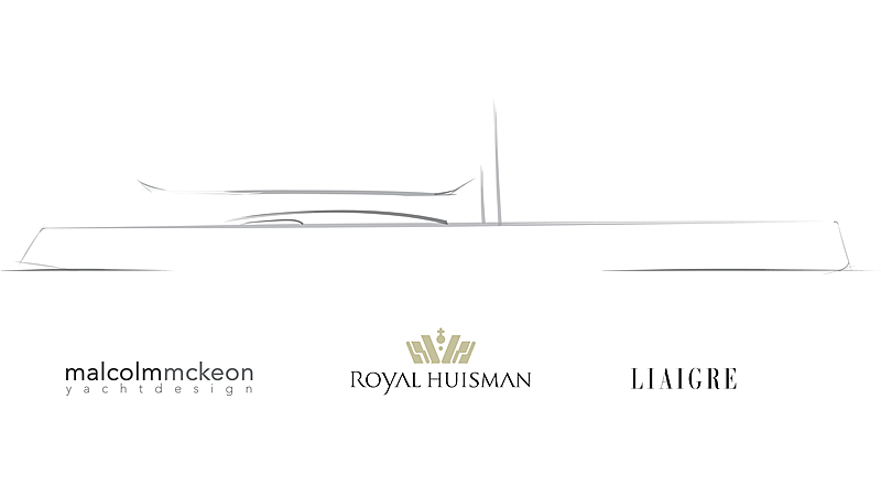 Royal Huisman 59m Project 404 profile rendering