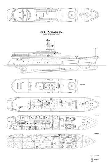 Ark Angel yacht general arrangement