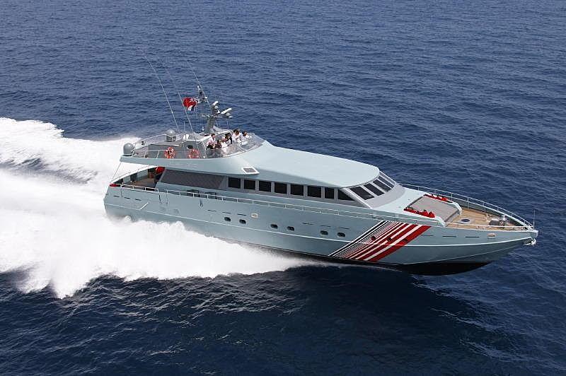 Baglietto Chato yacht running