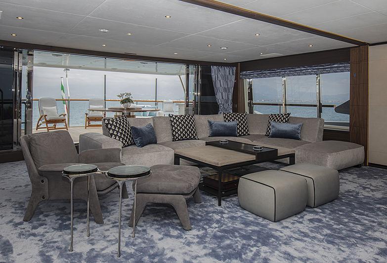Skyler yacht upper deck saloon