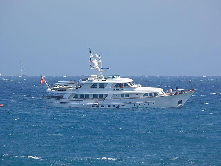 Spada yacht anchored off Antibes