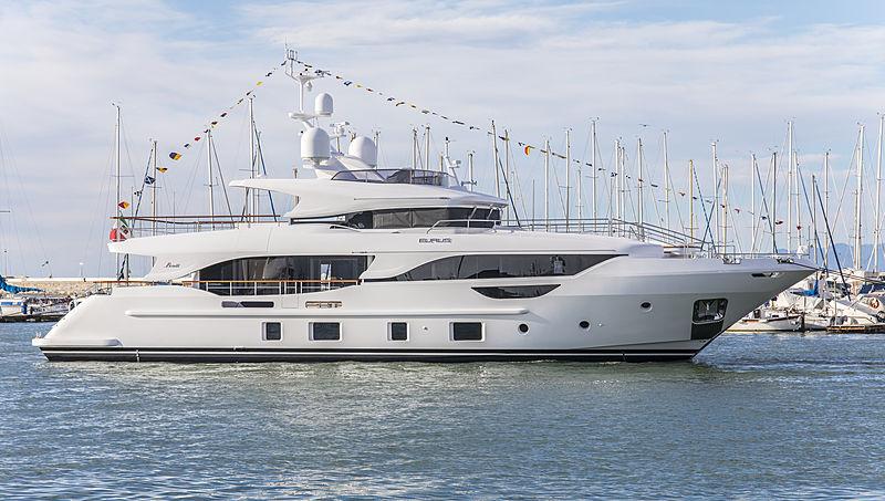 Eurus yacht launch in Viareggio at Benetti Shipyard
