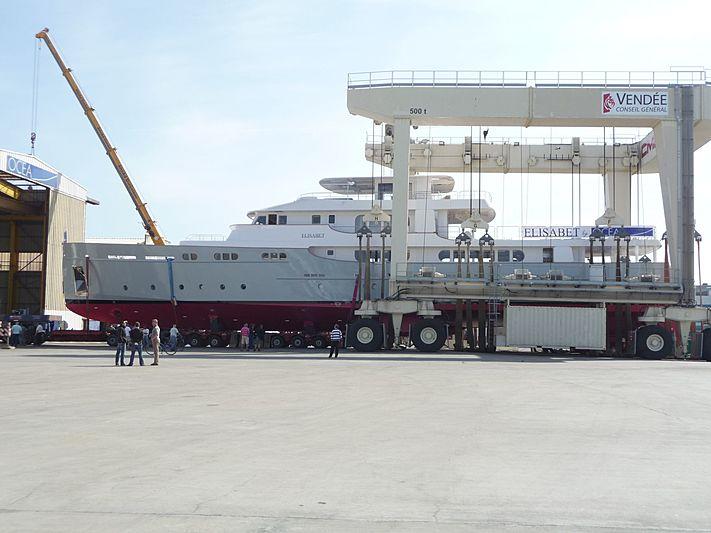 Elisabet yacht launch at Ocea
