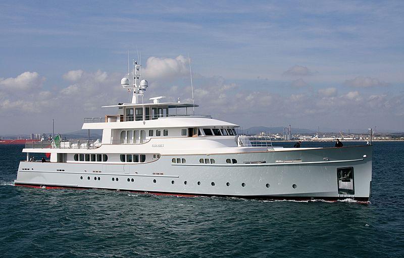 Elisabet yacht arriving in Gibraltar