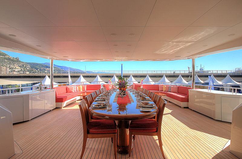 Balista yacht upper deck