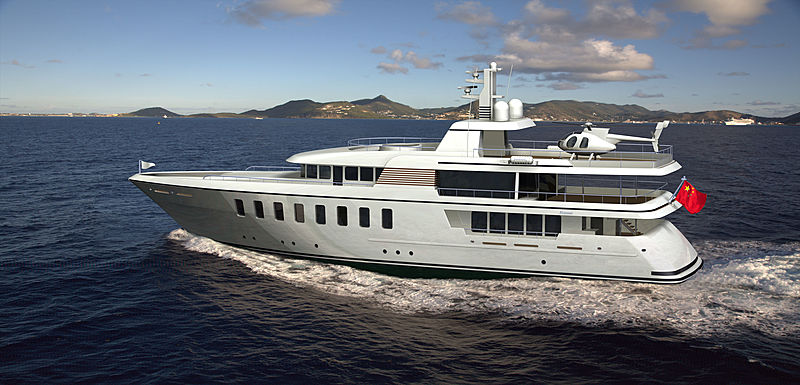 Feadship 805 yacht rendering
