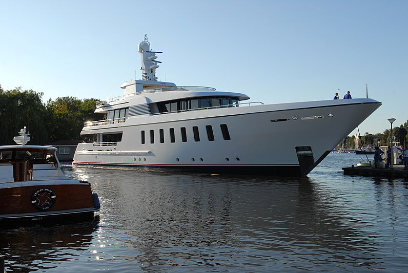 Helix yacht launch at Feadship Royal Van Lent