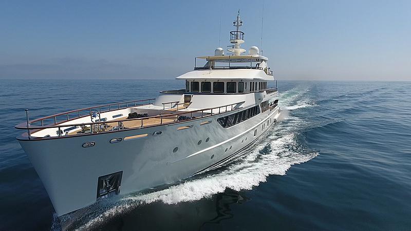 Meteor yacht cruising
