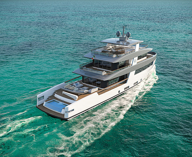 Rossetti Superyachts 35m Supply Vessel Concept renderings