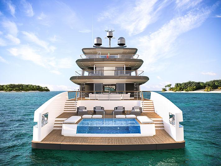 Rosetti Superyachts 50m Supply Vessel renderings