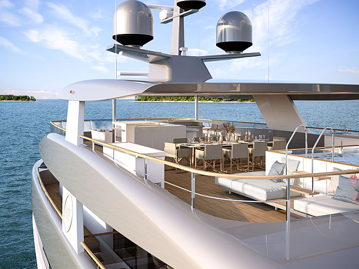 Rosetti Superyachts 50m Supply Vessel renderings