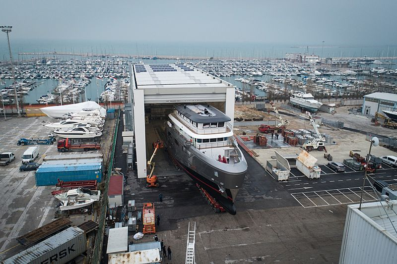 Audace yacht launch in Ancona