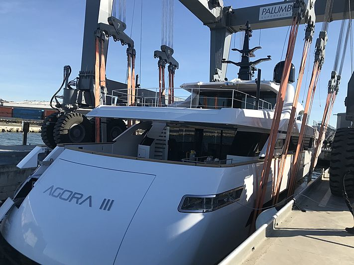 Agora III yacht launch at ISA Yachts