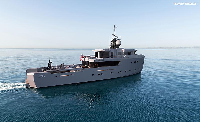 Tansu CV115 yacht exterior design