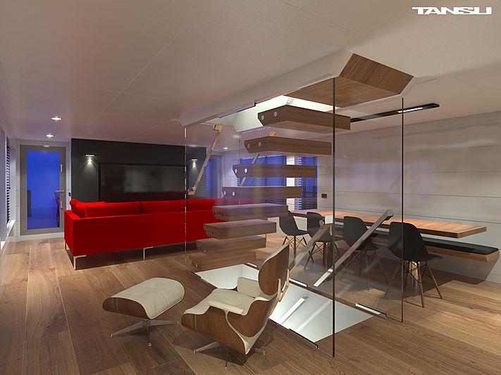 Tansu CV115 yacht interior design