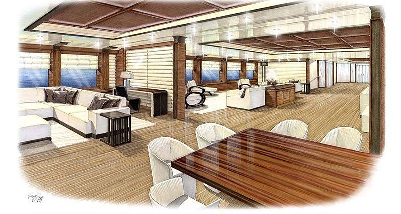 PJ World yacht interior rendering