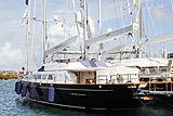 The Aquarius yacht = in Porto Cervo