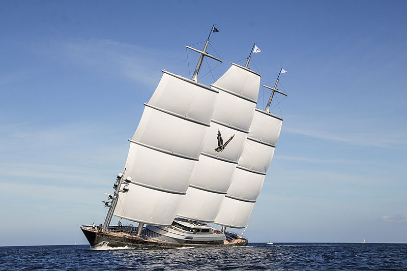 Maltese Falcon yacht sailing in Porto Cervo