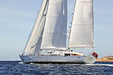 Spirit of the C's yacht sailing in Porto Cervo