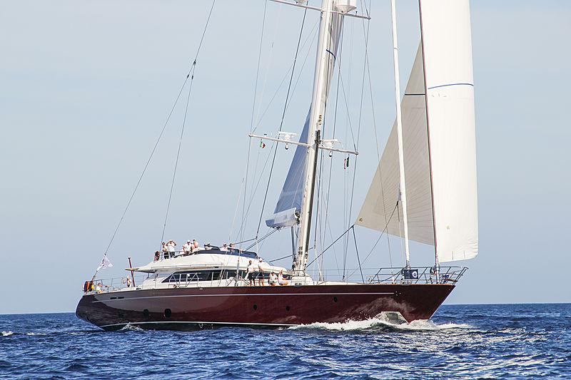 Blush yacht sailing in Porto Cervo