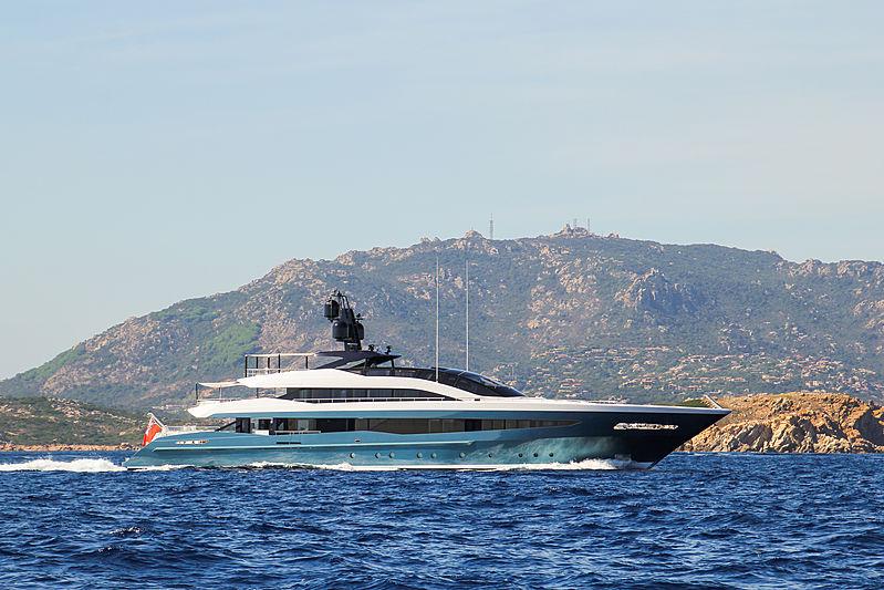 Irisha yacht cruising in Porto Cervo