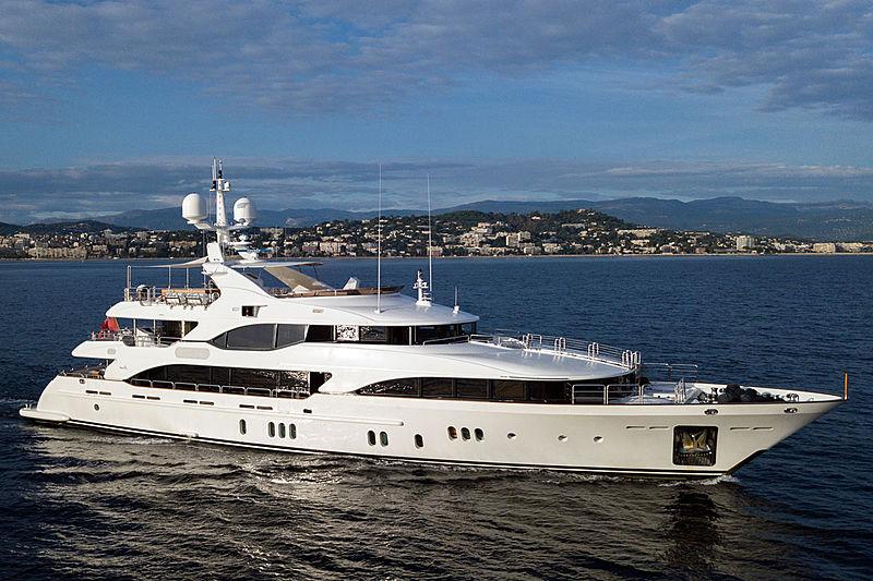Moka yacht anchored