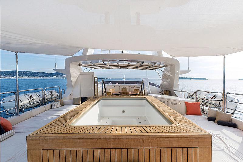 Moka yacht sundeck