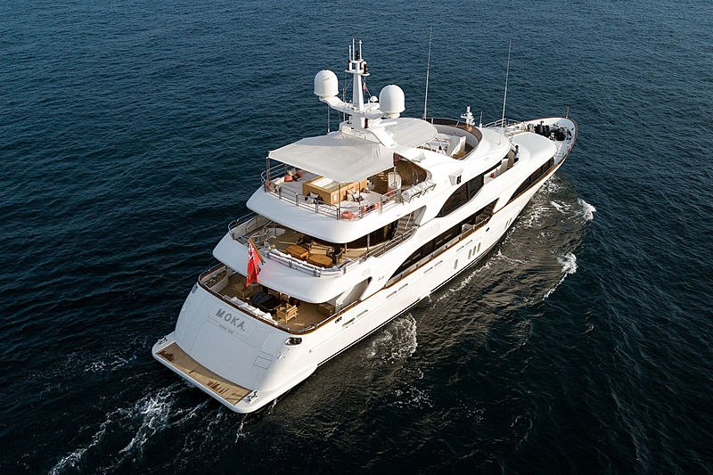 Moka yacht aerial