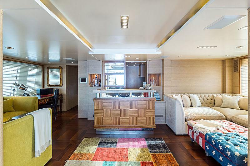 Moka yacht upper deck saloon