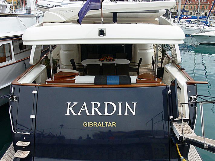 Kardin yacht in Nice