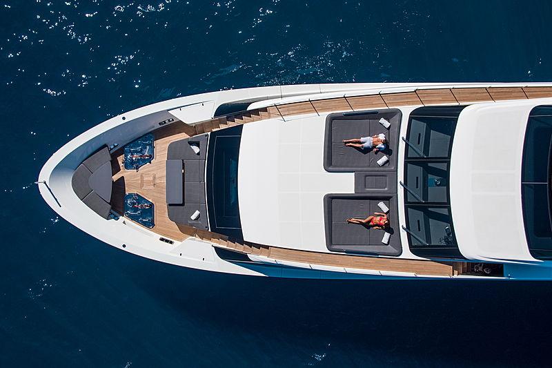 Brabus 7 yacht anchored