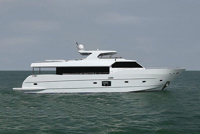 Gulf Craft yacht Lulwa side profile
