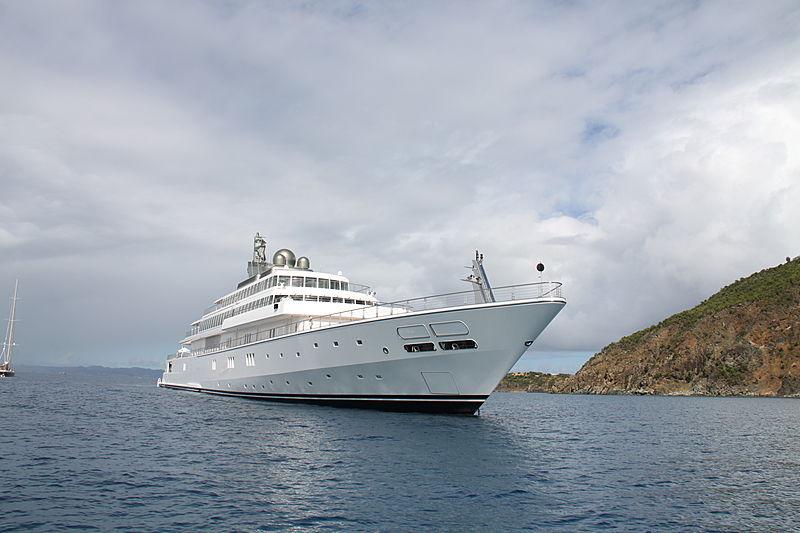 Rising Sun yacht anchored in Saint Barthelemy