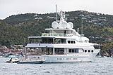 Dancing Hare yacht anchored in Saint Barthelemy