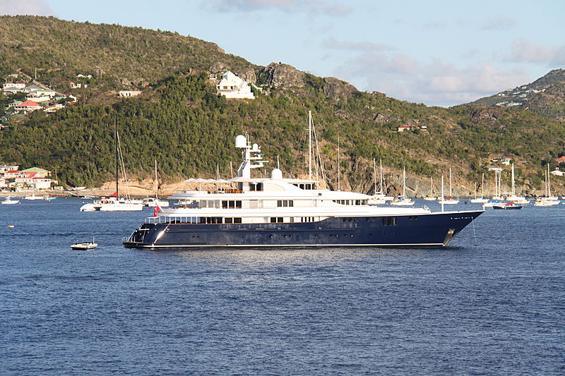 Archimedes yacht anchored in Saint Barthelemy
