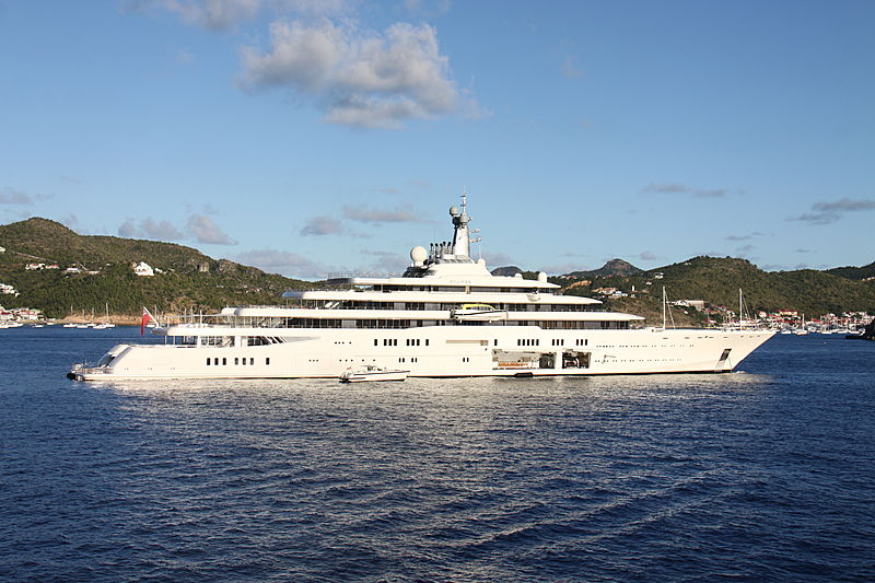 Eclipse yacht anchored in Saint Barthelemy