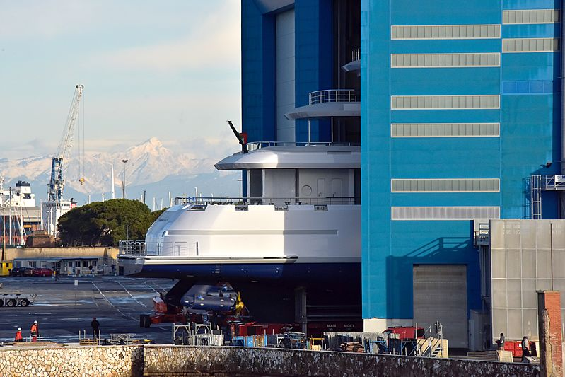 100m Benetti yacht FB272 in Livorno