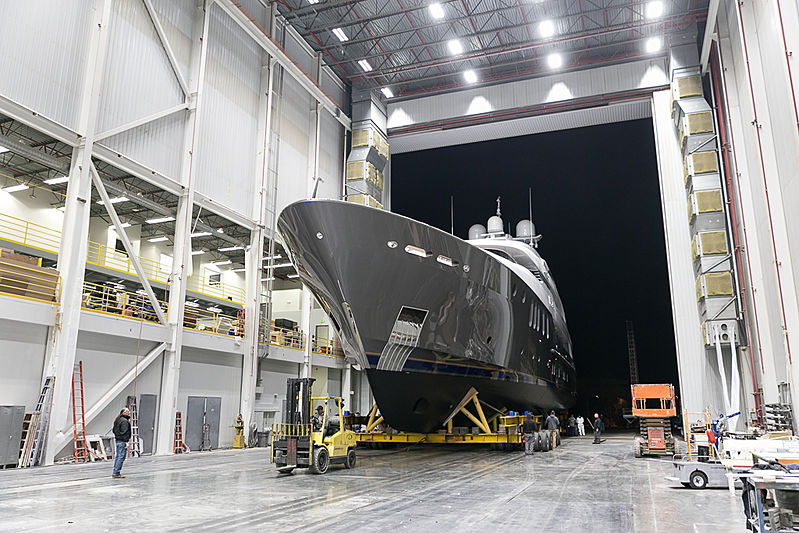 MLR yacht launch at Delta Marine