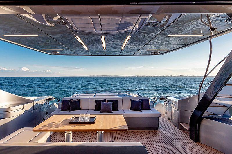 Pershing 8X yacht aft deck
