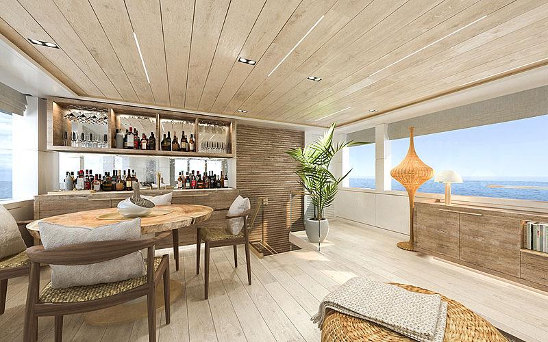 Mimi La sardine yacht interior design